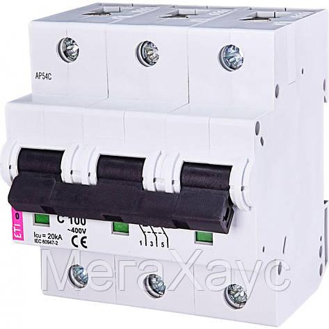Автоматический выключатель ETIMAT 10  3p C 100А (20 kA), фото 2