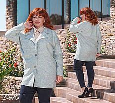 Пальто с карманами БАТАЛ 04/с497, фото 2