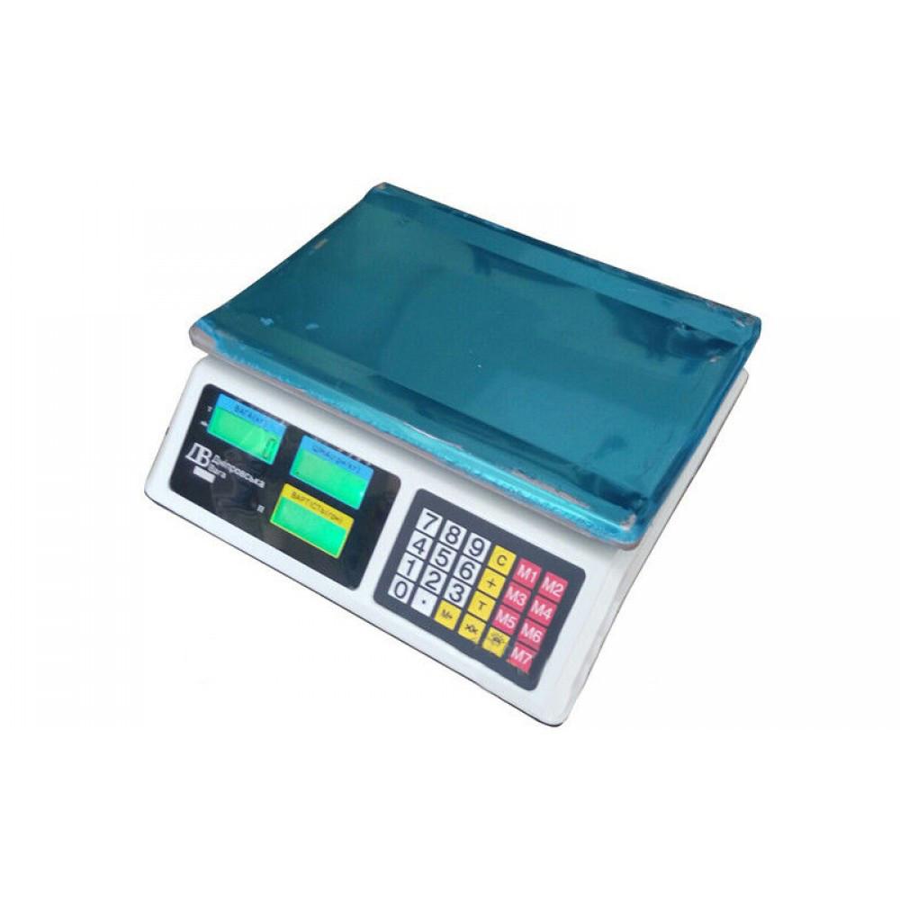 Весы торговые ВТЕ-Центровес-30Т1-ДВЭ до 30 кг