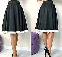 Женская юбка, длина - миди, материал - костюмная ткань
