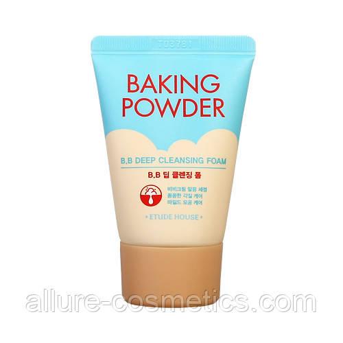 Etude house baking powder bb deep cleansing foam пенка для умывания Mini 30мл