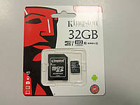 Kingston microSDHC 32 GB Canvas Select Class 10 UHS-I U1 + SD-адаптер (SDCS/32GB)