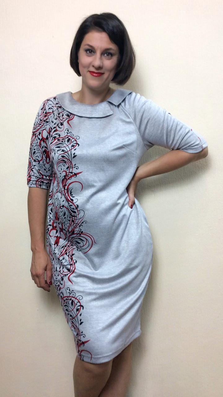 "Платье из модала ""купон"" с карманами П210"