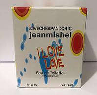Тестер в подарунковій упаковці jeanmishel loveCheapandChic I love love 60 мл