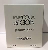 Тестер в подарочной упаковке jeanmishel loveAcqua Di GioIa 60 мл