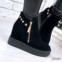 Ботинки женские Penny черные 5540 , ботинки женские