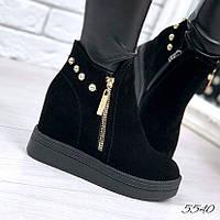 Ботинки женские Penny черные 5540 , ботинки женские, фото 1