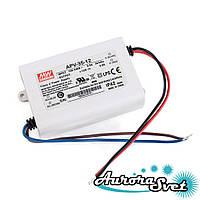 Led драйвер APV-35-12 / 35-220AC-12S-84.0x57.0x29.5-LED DRIVER. Драйвер світлодіода MEANWELL