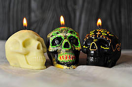 Декоративные свечи Halloween 5шт/уп - Черепок белый