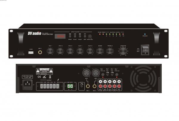 Трансляционный микшер-усилитель с USB DV audio PA-120 PU
