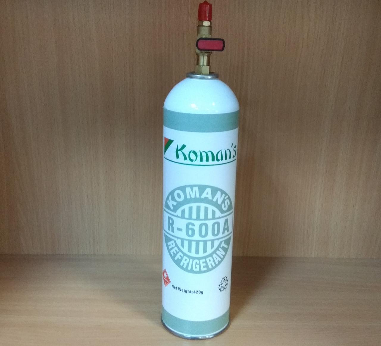 Фреон R600a (изобутан - 420 г.)