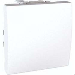 Вимикач кнопковий 1-кл. 2-м. Unica білий Schneider Electric, фото 2
