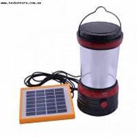 Кемпинговая лампа с панелью солнечной зарядки аккмулятора 5835, фото 1