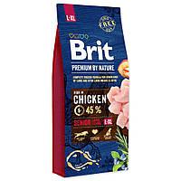 Сухой корм Brit Premium Dog Senior L+XL 15кг