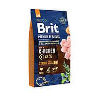 Сухой корм Brit Premium Dog Senior S+M 15кг