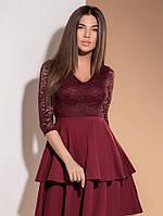 Стильное платье с гипюром, фото 1