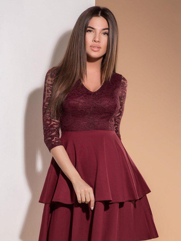 87871c09fd8 Стильное Платье с Гипюром — в Категории