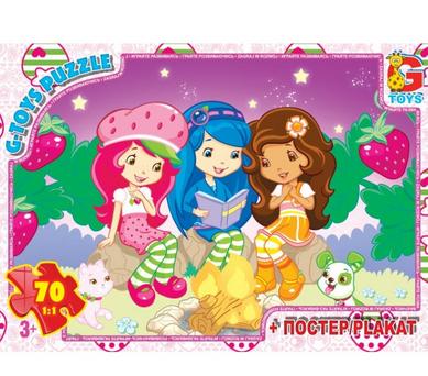 Пазлы из серии Strawberry Shortcake, 70 элементов.Пазлы и игры.Пазлы для детей.