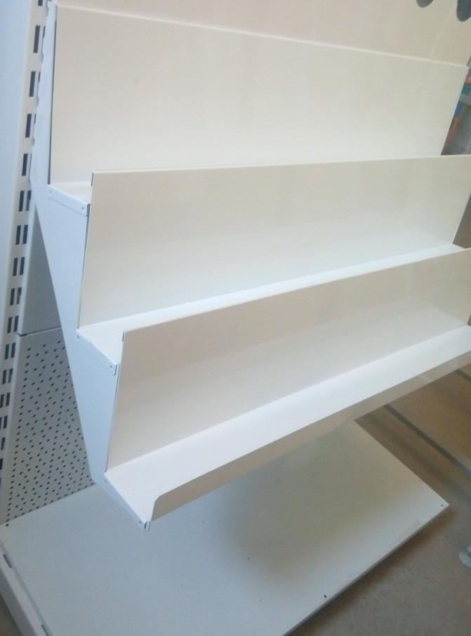 Кронштейн потрійний книжковий для металевої полки в книжкових стелажах