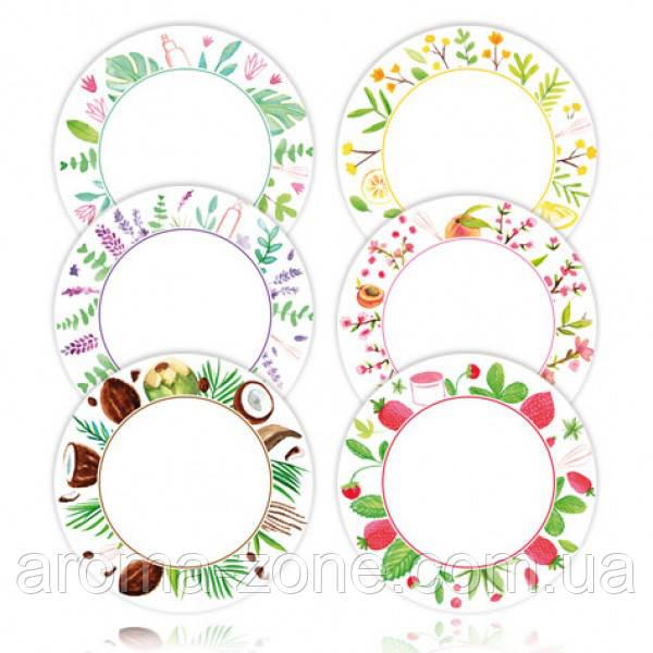Этикетки круглые  6 СМ ( 6 шт.)