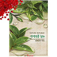 Тканевая маска с экстрактом зеленого чая Nature Republic Real Nature Mask Sheet Green Tea