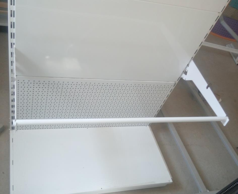 Кронштейн потрійний під рулонні вироби в металевих стелажах