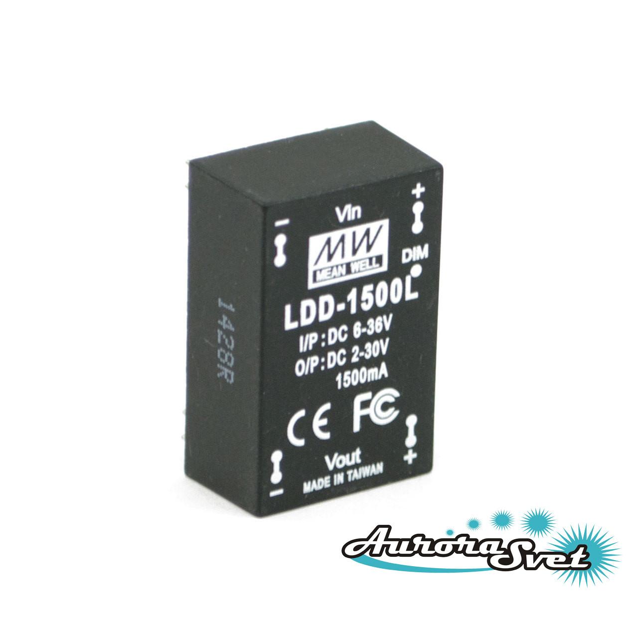 Led драйвер LDD-1500L LED DRIVER. Драйвер светодиода MEANWELL