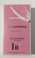Мини парфюм в подарочной упаковке jeanmishel Love Chance eau Tendre 45мл