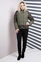 Женская модная демисезонная куртка 50-66рр хаки