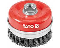 """Щетка-крацовка YATO """"чашка"""" 100мм"""