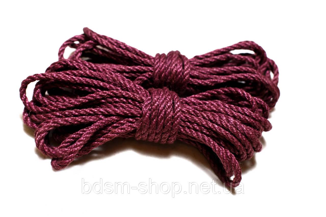 Веревка для Шибари 6мм Бургундский
