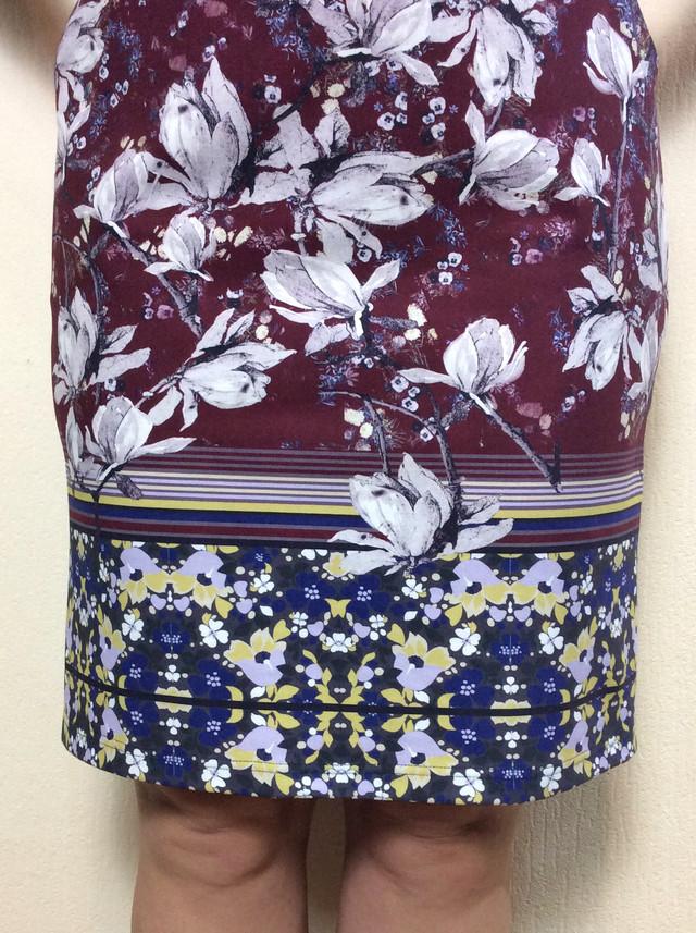 Платье с карманами из плотного трикотажа с купоном П57 - купон