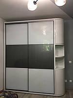 Шкаф купе на заказ PREMIUM Zola grafit металик V132, фото 1