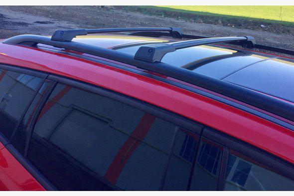 Перемычки на рейлинги без ключа (2 шт) Черный - Audi 100 C4 1990-1994 гг.