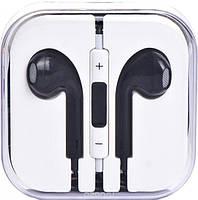Наушники черные с микрофоном + пульт + коробка Apple!Акция
