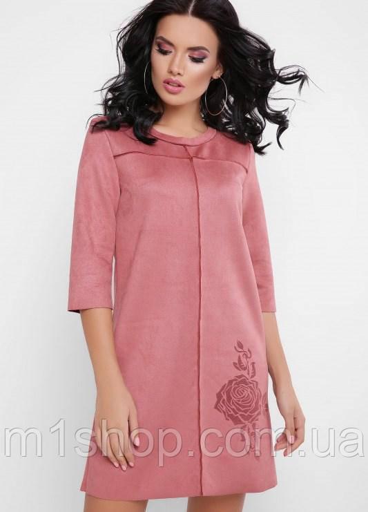 Женское замшевое платье-туника (Crystal fup)