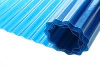 Волнистый стекловолоконный шифер Волнопласт ( Vonoplast ) 2,5*20 м. голубой (50 м2), фото 1
