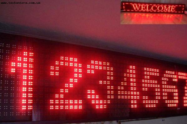 Бегущая строка P16740 светодиоды красные Внутреннего использования