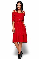 Женское платье Летиция, красный, р.42-46