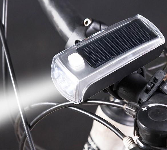 Передний велосипедный фонарь на солнечной батареи HJ-029