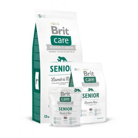 Сухой корм Brit Care Senior Lamb&Rise 12кг
