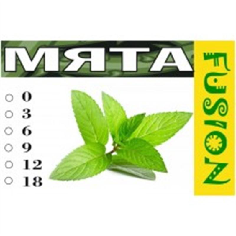 FUSION Жидкость для электронных сигарет. Тонизирующие вкусы. Мята, 12 мг