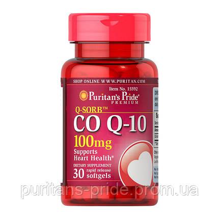 Кофермент,Q-10, Puritan's Pride Co Q-10 100 mg 30 Softgels, фото 2