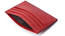 Ультратонкий кожаный картхолдер «Geeson» на 7 отделений красный