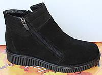 Ботинки женские зимние замшевые на низком ходу, зимняя женская обувь от производителя модель МВ07-2, фото 1