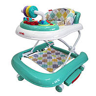 Детские ходунки CARRELLO Torino CRL-9603/2  Turquoise 3 в 1 (ходунки, качалка, каталка) ***