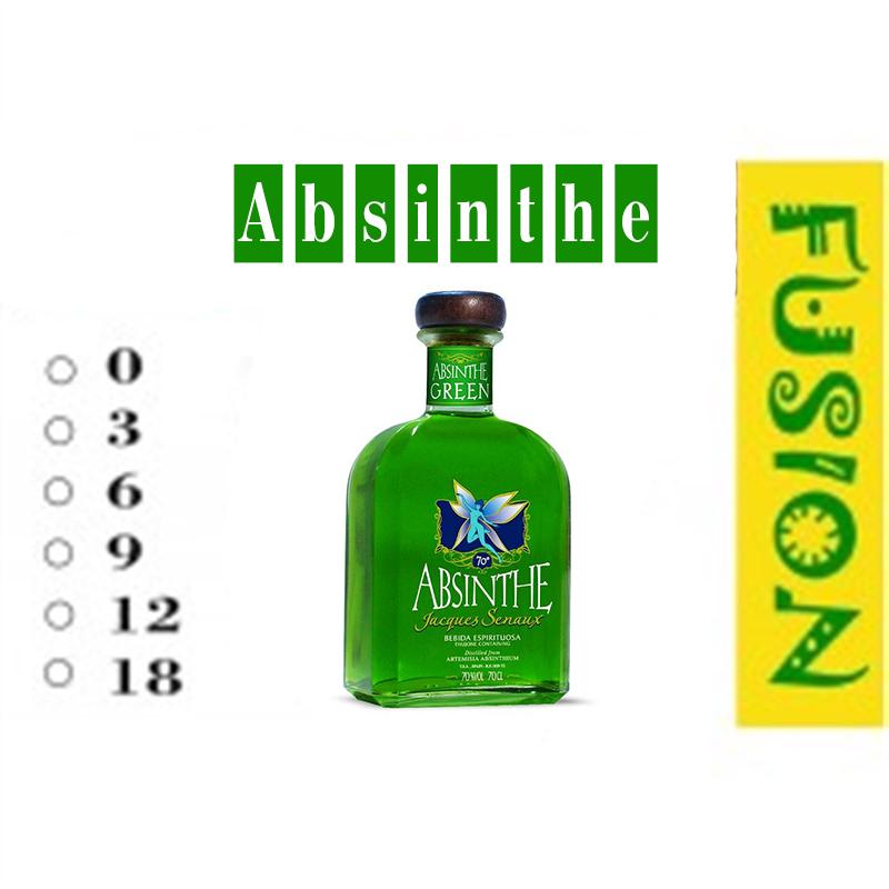 FUSION Жидкость для электронных сигарет. Тонизирующие вкусы. Absinthe (Абсент), 6 мг