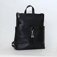 Кожаный женский рюкзак-трансформер Р05