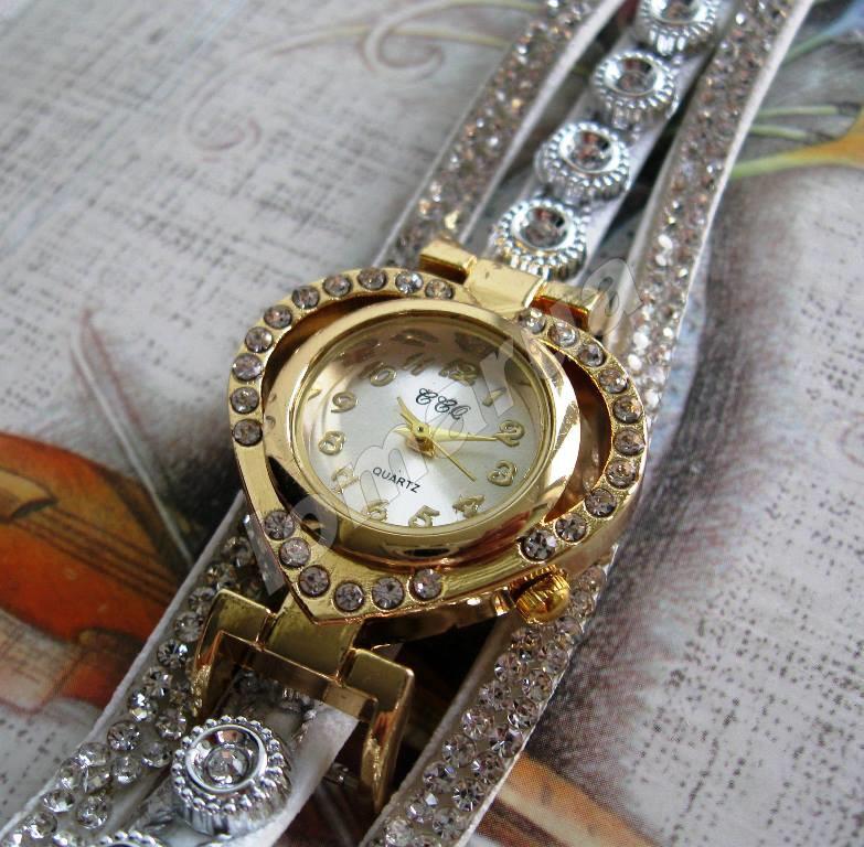 7b55be9efe1a Женские часы-браслет со стразами CCQ White  115 грн. - Наручні ...