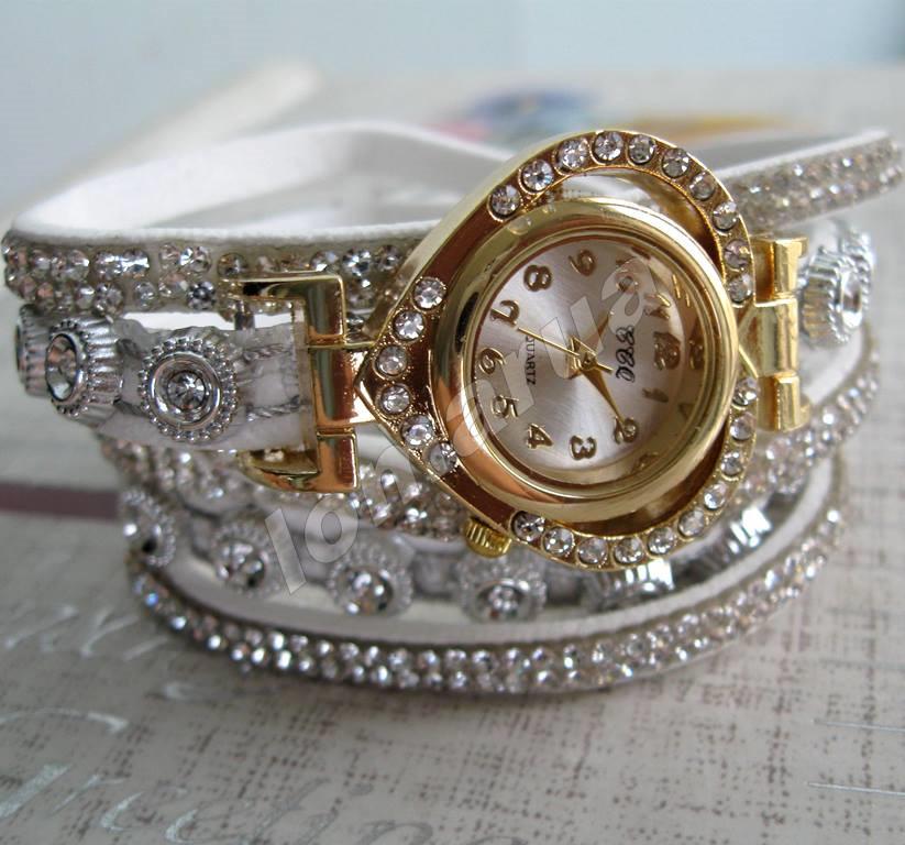f9c91bed1136 Женские Часы-браслет со Стразами CCQ White — в Категории